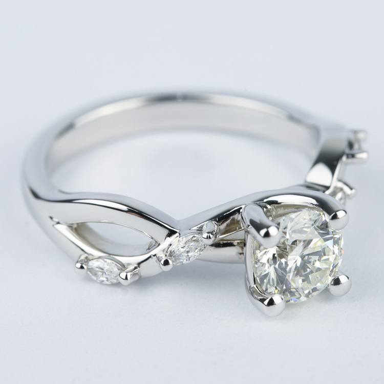 Florida Ivy Round Diamond Engagement Ring (0.80 ct.) angle 3