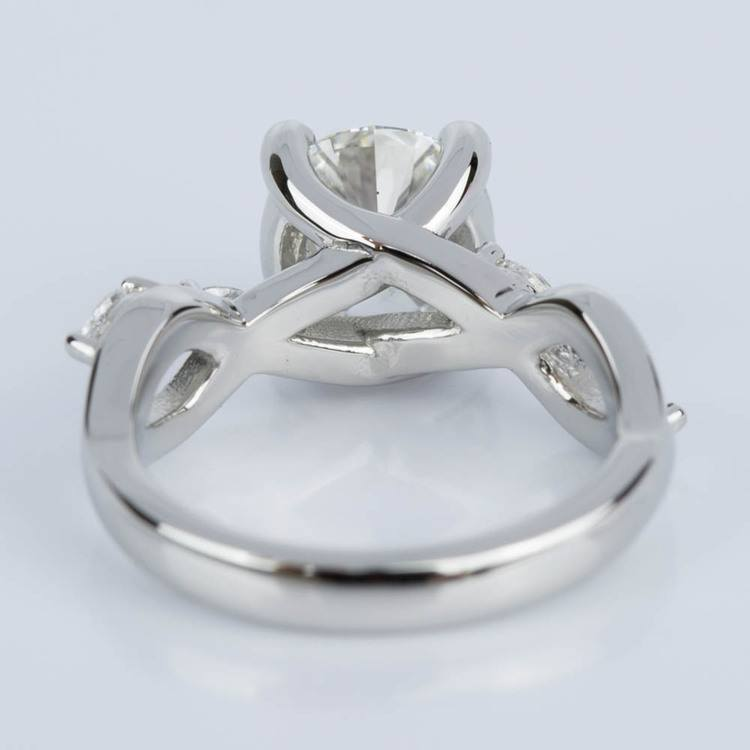 Florida Ivy Diamond Engagement Ring in Platinum (1.51 ct.) angle 4
