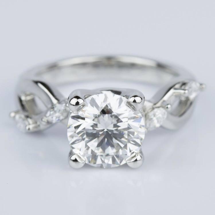 Florida Ivy Diamond Engagement Ring in Platinum (1.51 ct.)