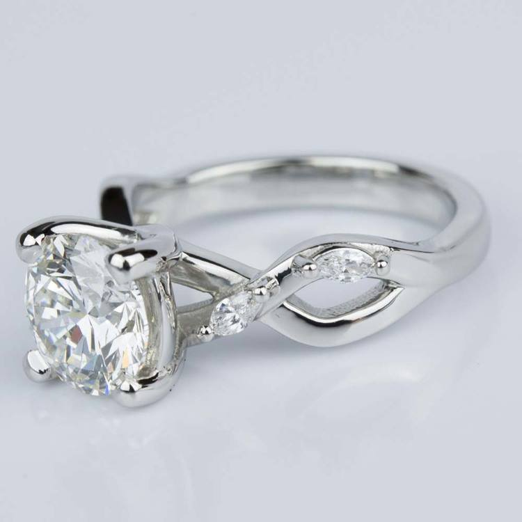 Florida Ivy Diamond Engagement Ring in Platinum (1.51 ct.) angle 2