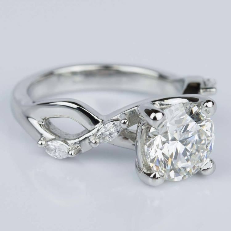 Florida Ivy Diamond Engagement Ring in Platinum (1.51 ct.) angle 3