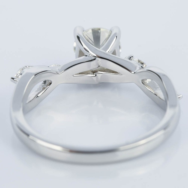 Florida Ivy Diamond Engagement Ring in White Gold (1.00 ct.) angle 4