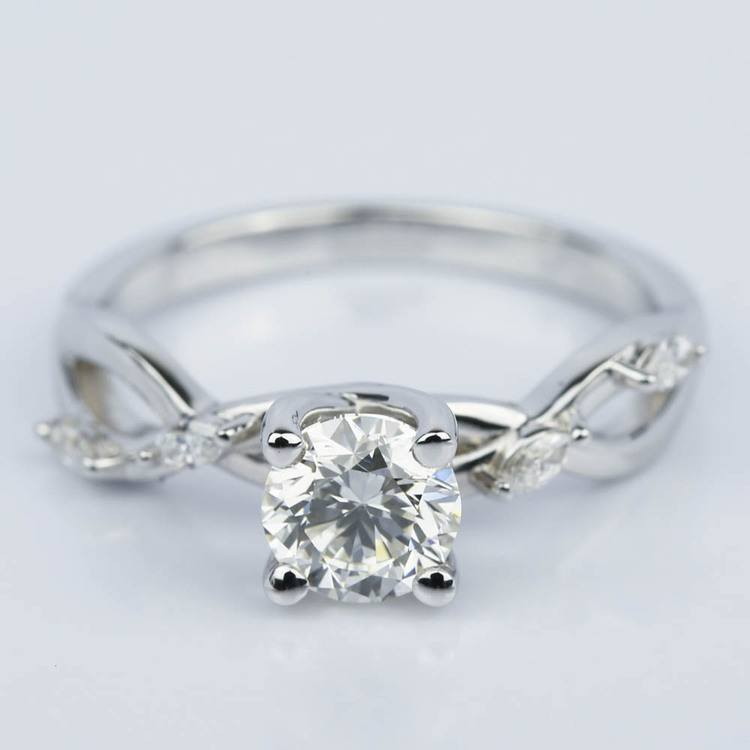 Florida Ivy Diamond Engagement Ring in White Gold (1.00 ct.)