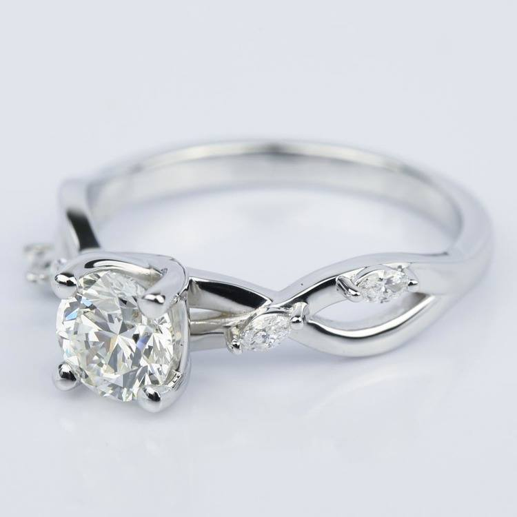 Florida Ivy Diamond Engagement Ring in White Gold (1.00 ct.) angle 2