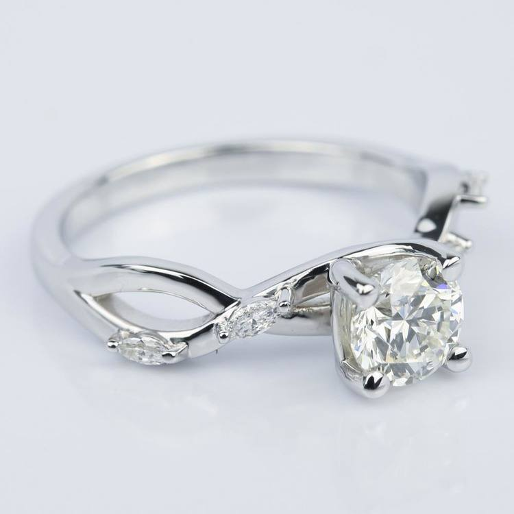Florida Ivy Diamond Engagement Ring in White Gold (1.00 ct.) angle 3