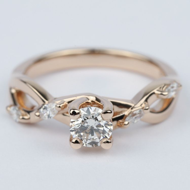 Florida Ivy Diamond Engagement Ring In Rose Gold (0.40 ct.)