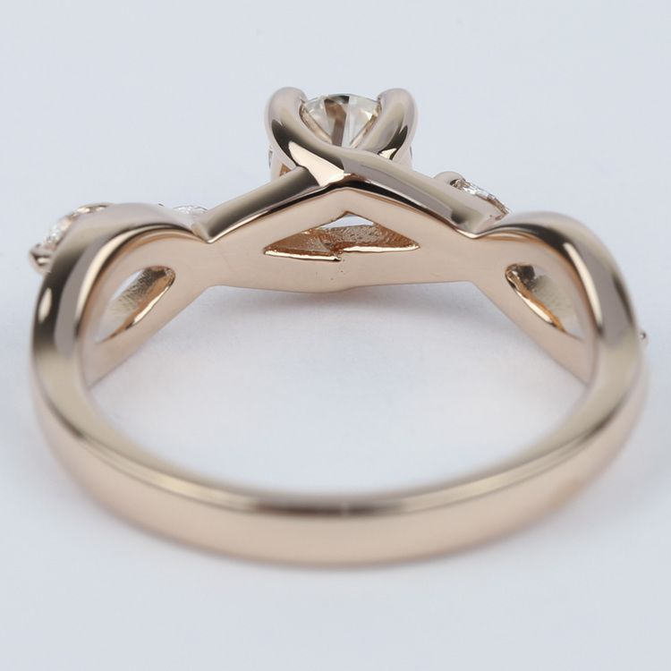 Florida Ivy Diamond Engagement Ring In Rose Gold (0.40 ct.) angle 4