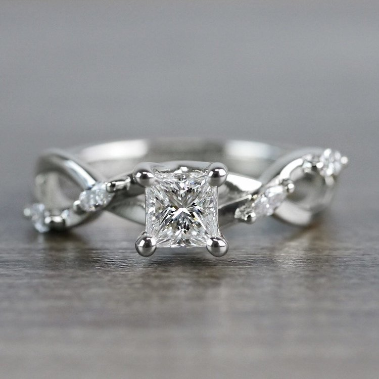 Florida Ivy Princess Cut Diamond Engagement Ring