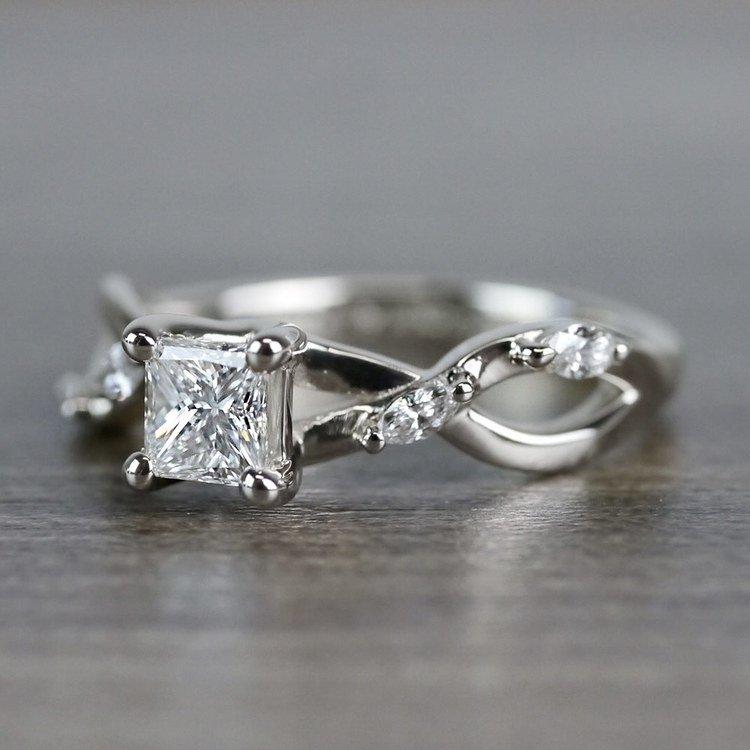 Florida Ivy Princess Cut Diamond Engagement Ring angle 2