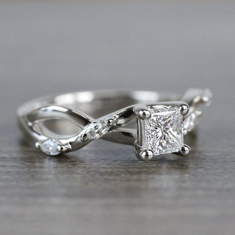 Florida Ivy Princess Cut Diamond Engagement Ring angle 3