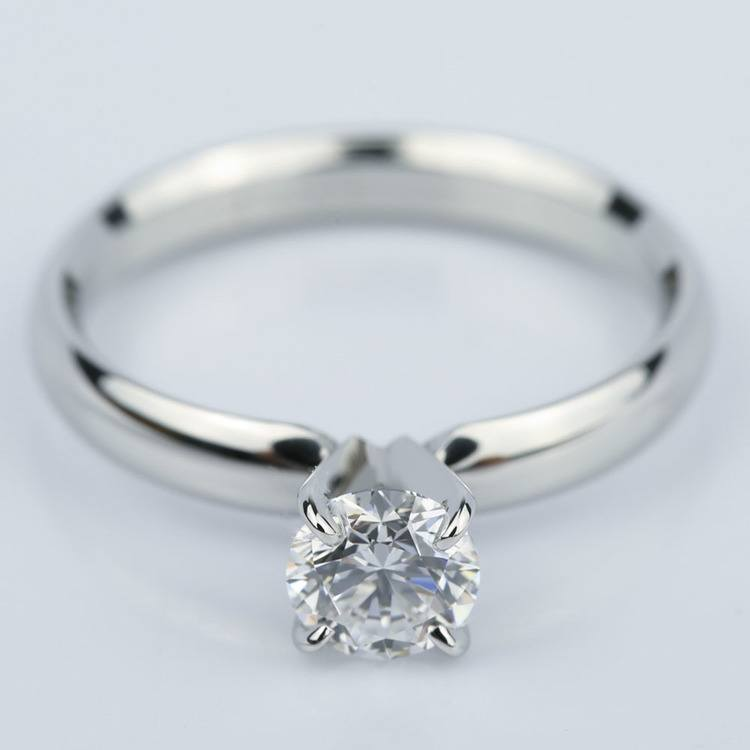 Four-Prong Round Solitaire Diamond Engagement Ring (0.59 ct.)