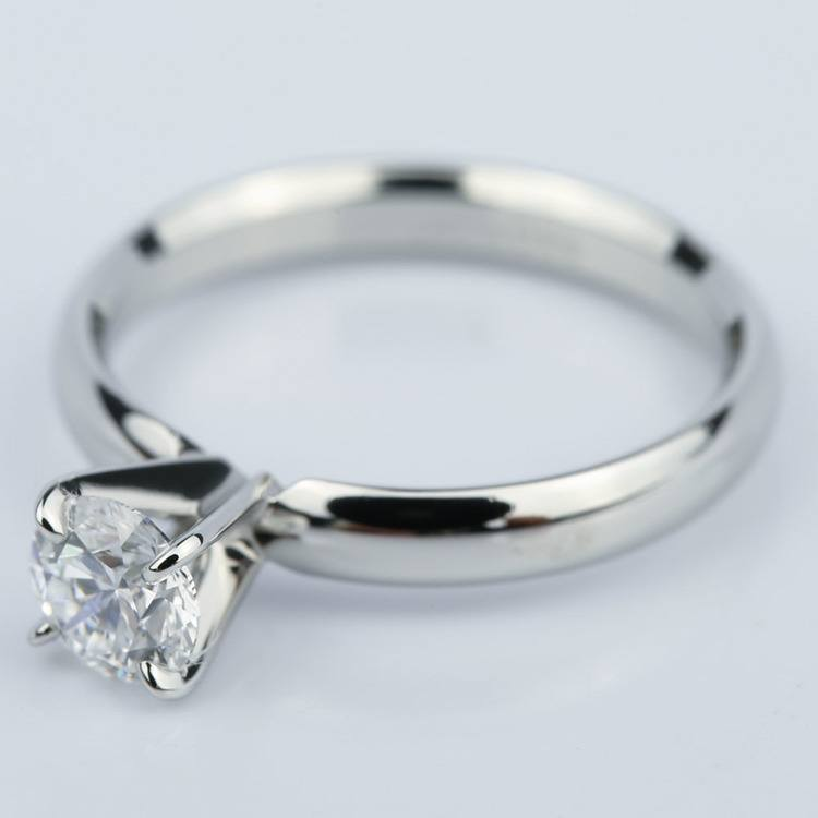 Four-Prong Round Solitaire Diamond Engagement Ring (0.59 ct.) angle 2