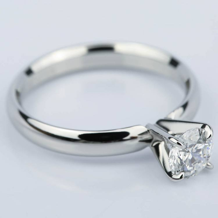 Four-Prong Round Solitaire Diamond Engagement Ring (0.59 ct.) angle 3