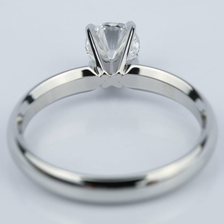 Four-Prong Round Solitaire Diamond Engagement Ring (0.59 ct.) angle 4