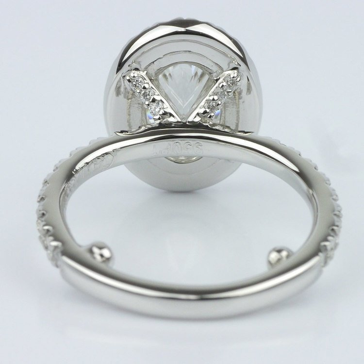 French Cut Pave Halo Ring with Claw Prongs (1.70 ct.) angle 4