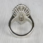 Glamour Antique Marquise Cut & Baguette Diamond Ring - small angle 4