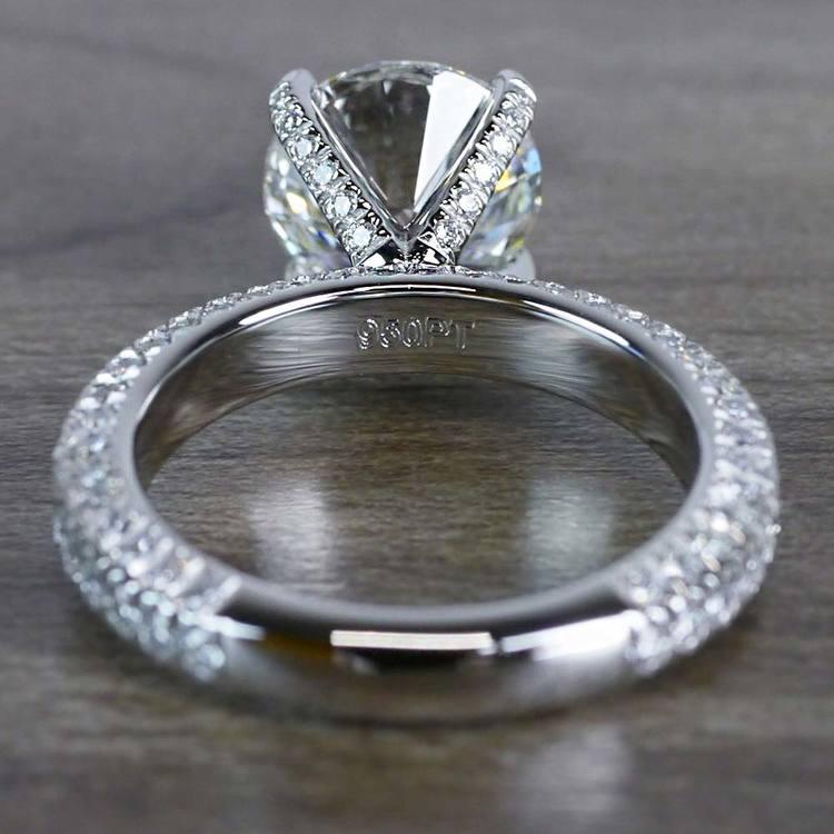Gleaming Pave Setting 3 Carat Diamond Ring angle 4