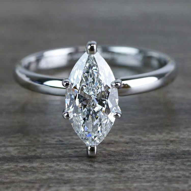 Glimmering Engagement One Carat Marquise Diamond Ring
