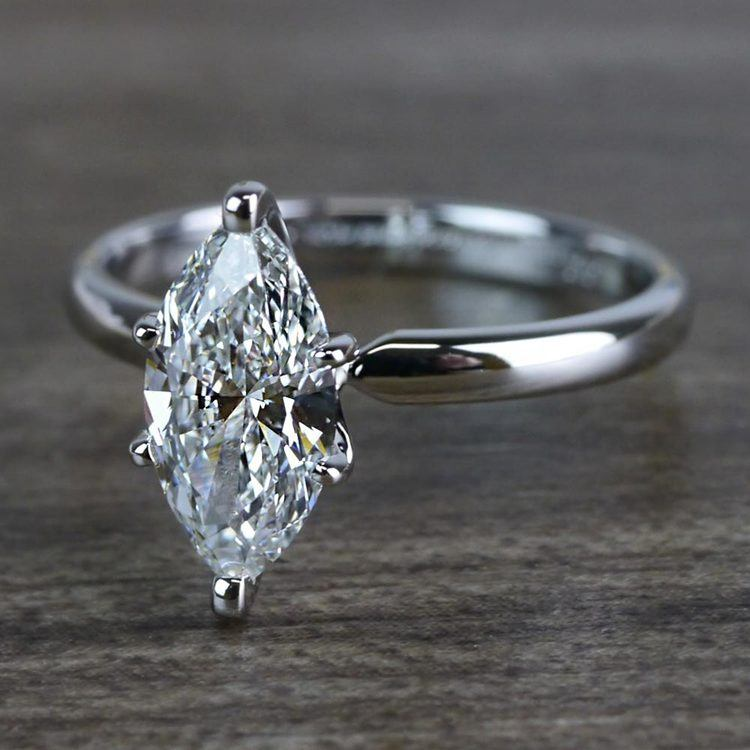 Glimmering Engagement One Carat Marquise Diamond Ring angle 2