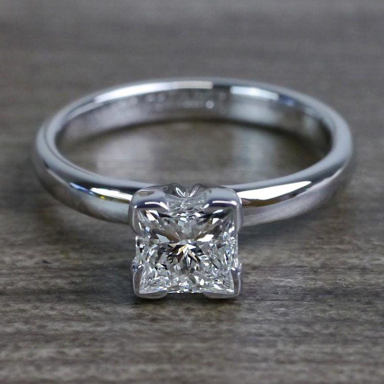 Grand Princess Cut Diamond Solitaire Engagement Ring