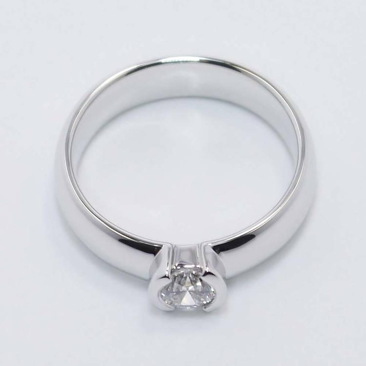 Bezel Round Flawless Diamond Engagement Ring (0.40 ct.) angle 2