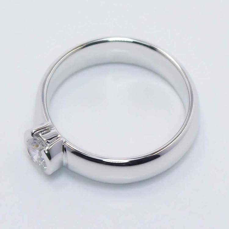 Bezel Round Flawless Diamond Engagement Ring (0.40 ct.) angle 4