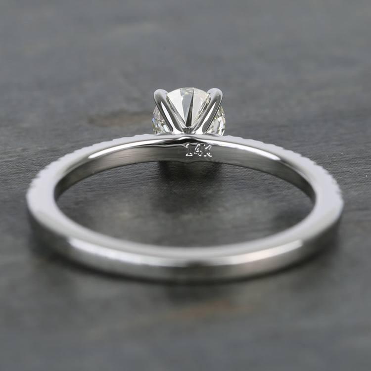 Half Carat Petite Pave Round Diamond Engagement Ring angle 4