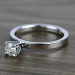 Half-Carat Round Flat Solitaire Diamond Engagement Ring - small angle 2