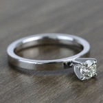 Half-Carat Round Flat Solitaire Diamond Engagement Ring - small angle 3