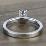 Half-Carat Round Flat Solitaire Diamond Engagement Ring - small angle 4
