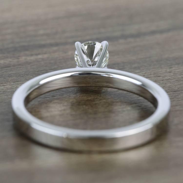 Half-Carat Round Flat Solitaire Diamond Engagement Ring angle 4