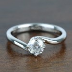 Half Carat Swirl Style Round Solitaire Diamond Engagement Ring - small