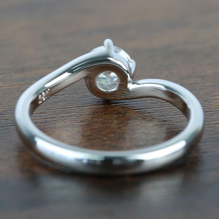 Half Carat Swirl Style Round Solitaire Diamond Engagement Ring angle 4