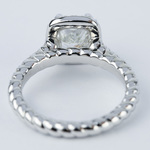 Twisted Rope Cushion Diamond Halo Engagement Ring - small angle 4