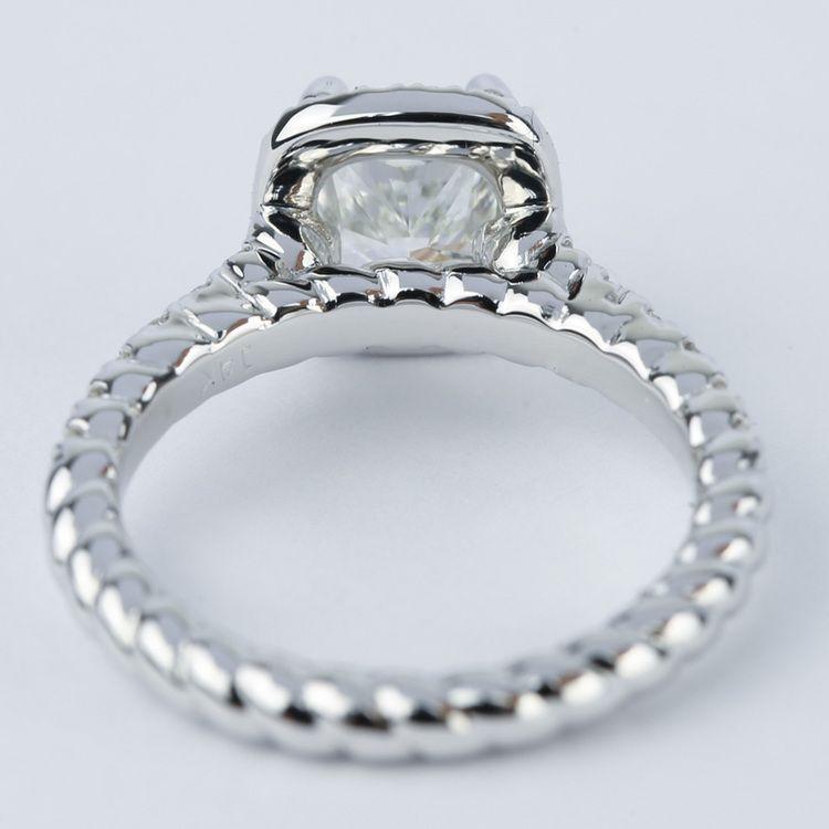 Twisted Rope Cushion Diamond Halo Engagement Ring angle 4