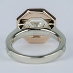 Two-Tone Antique Halo Engagement Ring with Asscher Diamond (3 Carat) - small angle 4