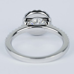 Halo Round Diamond Engagement Ring in White Gold (1.01 Carat) - small angle 4