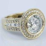 Halo Bezel Diamond Engagement Ring (6 Carat) - small angle 3