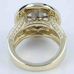 Halo Bezel Diamond Engagement Ring (6 Carat) - small angle 4