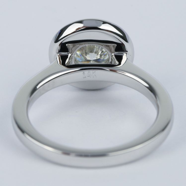 Floating Halo Round Diamond Engagement Ring (0.90 ct.) angle 4