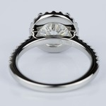 Halo Diamond Engagement Ring in Platinum (2.02 ct.) - small angle 4
