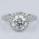 Halo Diamond Engagement Ring in Platinum (2.02 ct.) - small