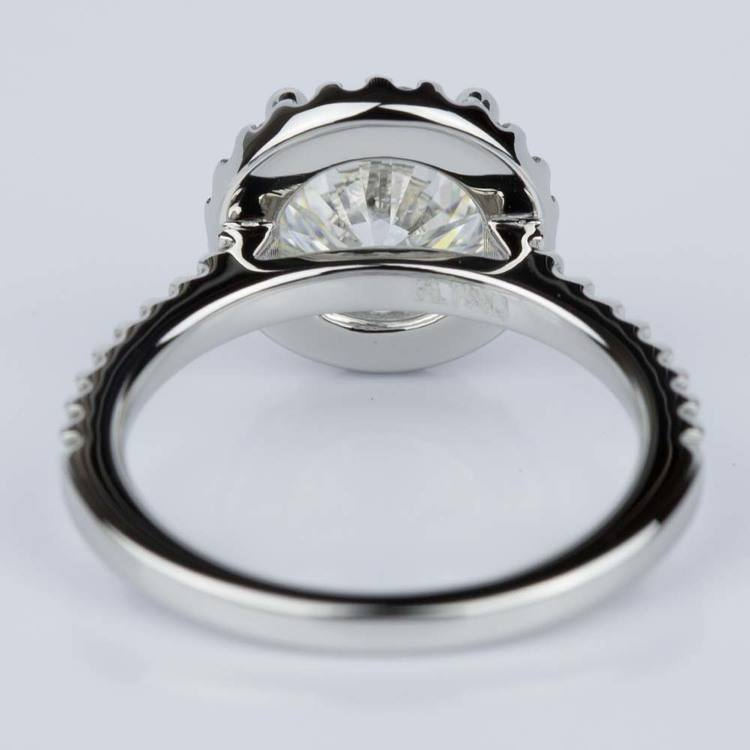 Halo Diamond Engagement Ring in Platinum (2.02 ct.) angle 4