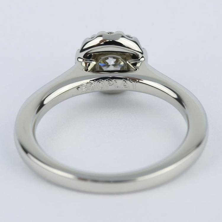 Classic Halo Diamond Engagement Ring in Platinum (0.39 ct.) angle 4