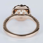 Halo Diamond Engagement Ring in Rose Gold (1.25 ct.) - small angle 4