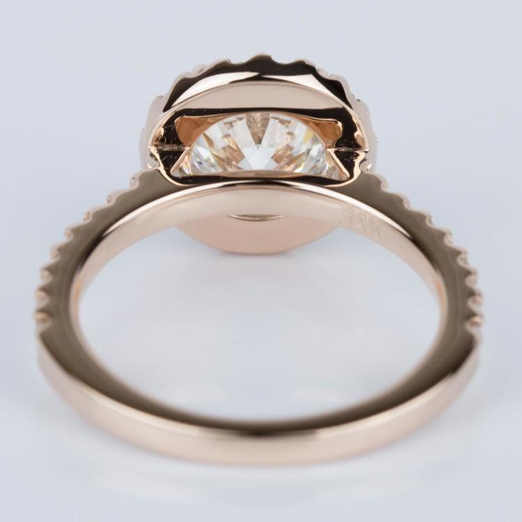 Halo Diamond Engagement Ring in Rose Gold (1.25 ct.) angle 4