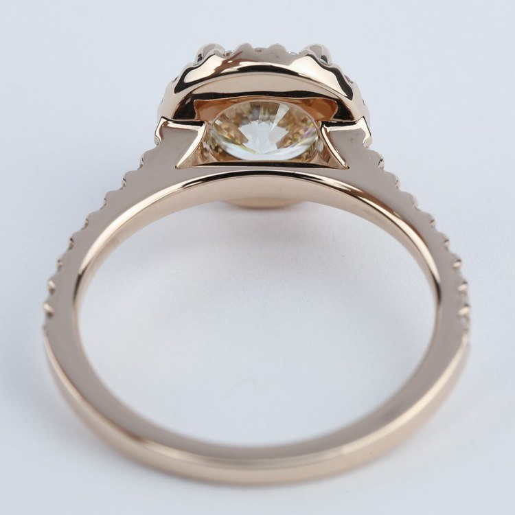 Diamond Engagement Ring in Rose Gold with M Color Diamond angle 4