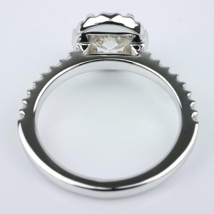 Halo Diamond Engagement Ring angle 4