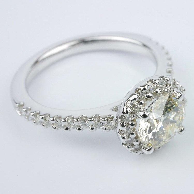 Halo Diamond Engagement Ring angle 3