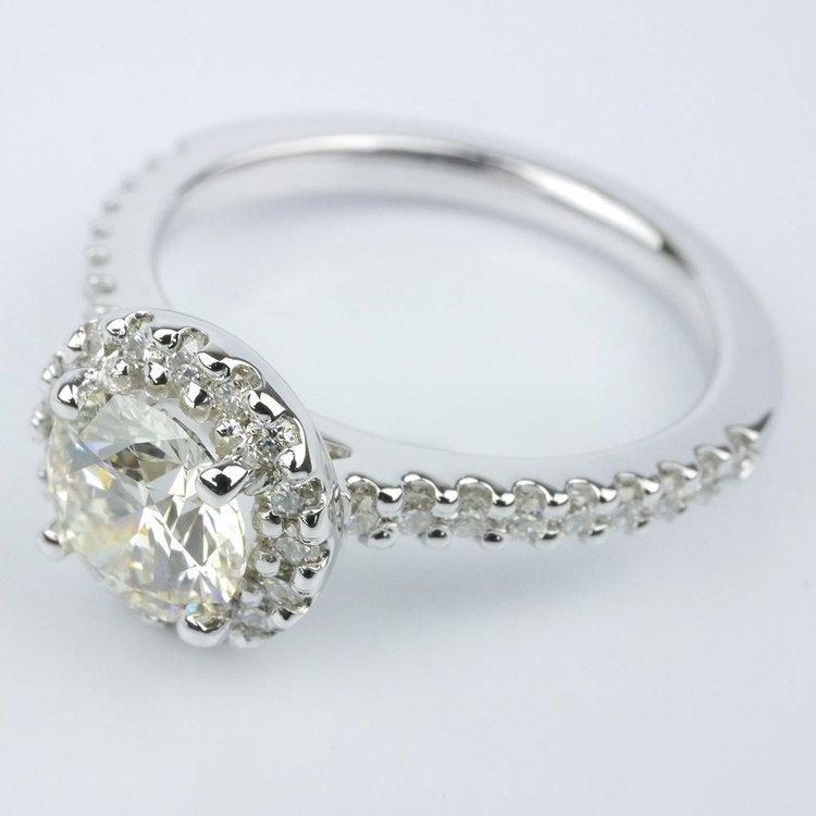 Halo Diamond Engagement Ring angle 2